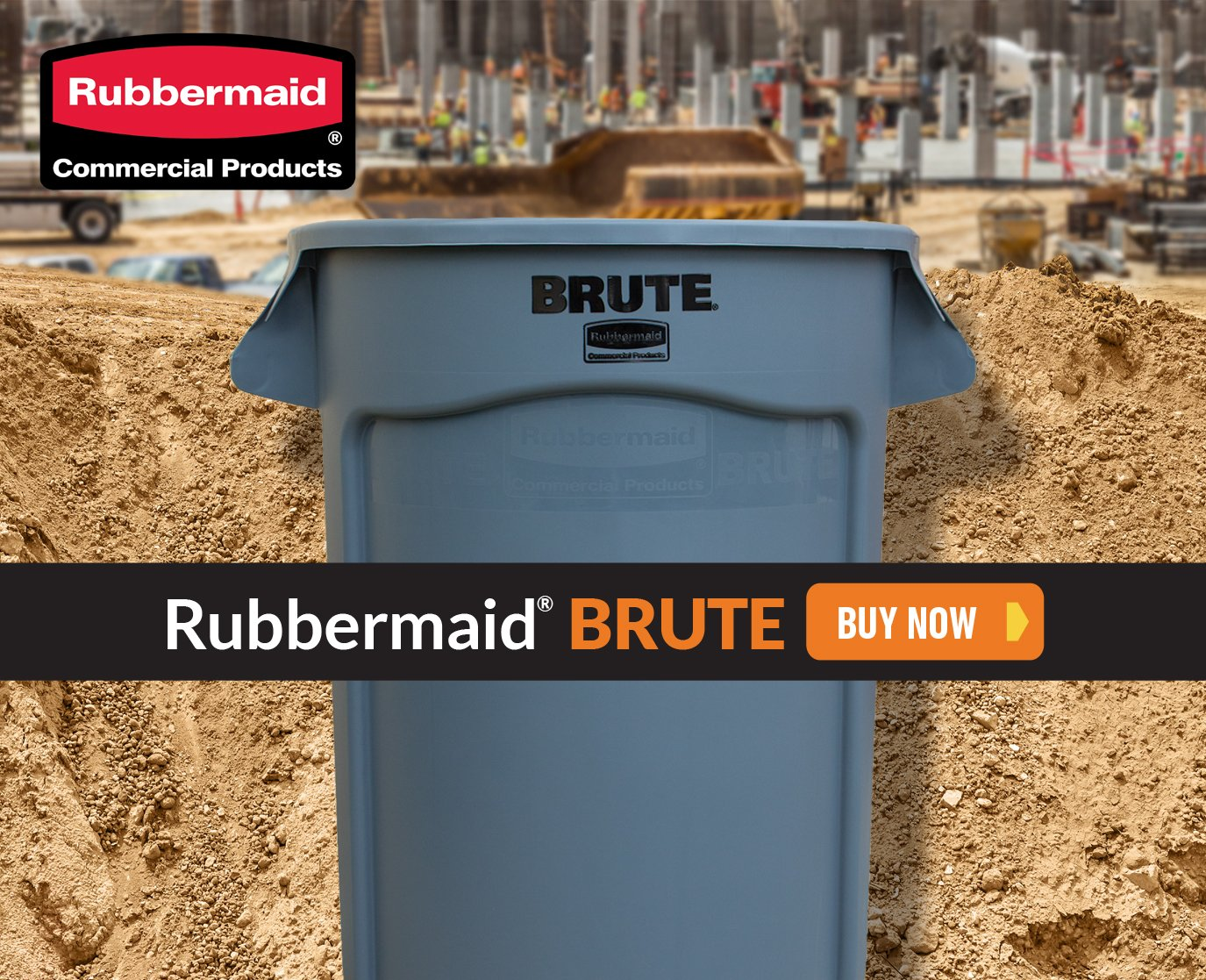 Rubbermaid BRUTE products